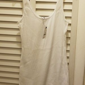Express knit tank, sequin front sz M NWT